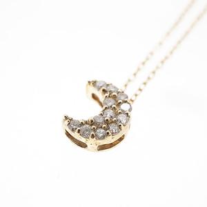 ネックレス ダイヤネックレス ムーンモチーフ K10YG イエローゴールド 天然ダイヤモンド 0.1ct