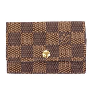 Auth Louis Vuitton Damier Multicles6 N62630 Men,Women,Unisex Key Case