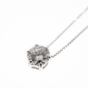 ネックレス ダイヤネックレス 一粒ダイヤ K10WG ホワイトゴールド 天然ダイヤモンド 0.2ct