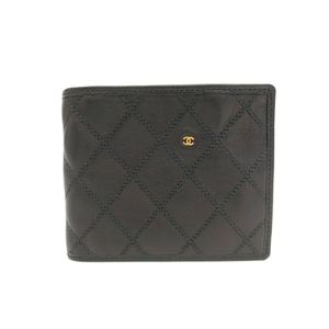 Chanel Bicolor Women's Bill Wallet (bi-fold) Black
