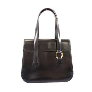 Auth Christian Dior Handbag Women's Leather Handbag Black