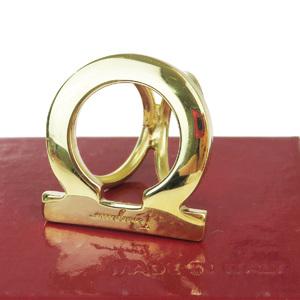 Salvatore Ferragamo Metal Scarf Ring Gold