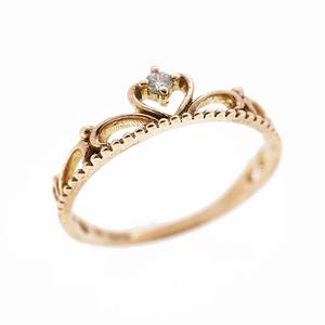 Auth Diamond Single Diamond Heart Motif Okan Motif Natural Diamond Carat  0.02c