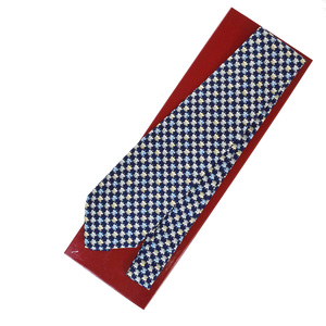 Salvatore Ferragamo Cravat Silk Animal Navy