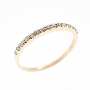 Auth Diamond Ring  Natural Diamond Pink Gold (18K)  Carat/0.15 Pink