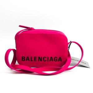 バレンシアガ(Balenciaga) VILLE CAMERA BAG XS 558171 レディース レザー ショルダーバッグ ピンク