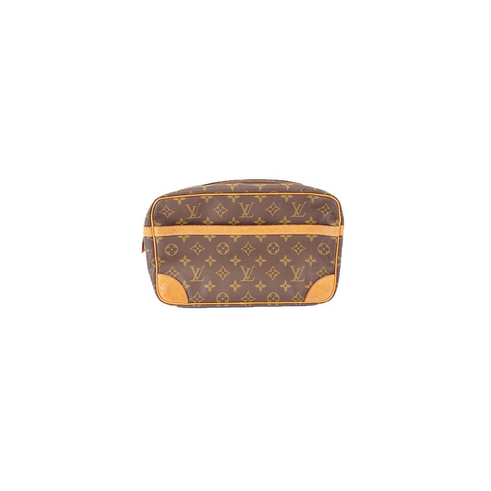 Auth Louis Vuitton Monogram Compiegne28 M51845 Men,Women,Unisex Clutch Bag,Pouch