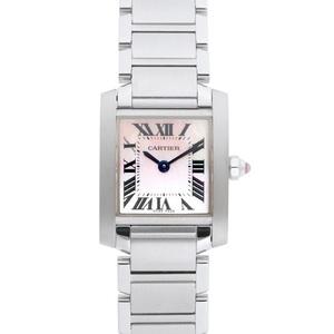 Cartier Tank Francaise Quartz Stainless Steel Women's Dress Watch W51028Q3
