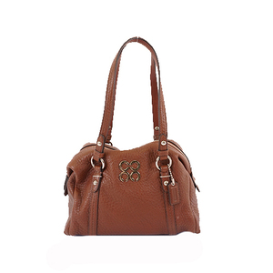 Auth Coach Handbag 44074 Women's Leather Handbag Brown