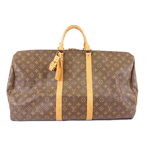 Auth Louis Vuitton Monogram M41424 Men,Women,Unisex Boston Bag Brown