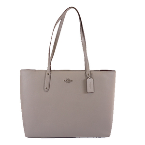 Auth Coach Totobag 69424 Women's Leather Shoulder Bag,Tote Bag Gray