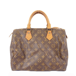 Auth Louis Vuitton Monogram Speedy30 M41108 Women's Handbag