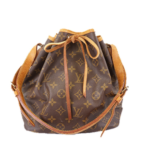 Auth Louis Vuitton Monogram Pti Noel M42226 Women's Shoulder Bag Brown