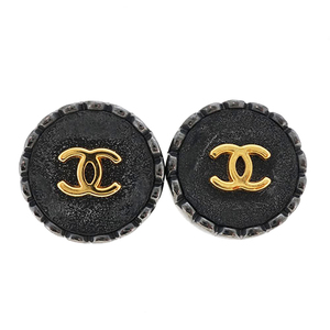 Auth Chanel Earrings Coco Mark  96P 1996 Spring Collection