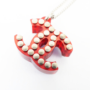 Auth Chanel Necklace Coco Mark 05P 2005 Spring Collection