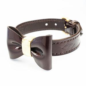 Auth Louis Vuitton Bracelet Vernis Bracelet Favarite Lether Brown Color