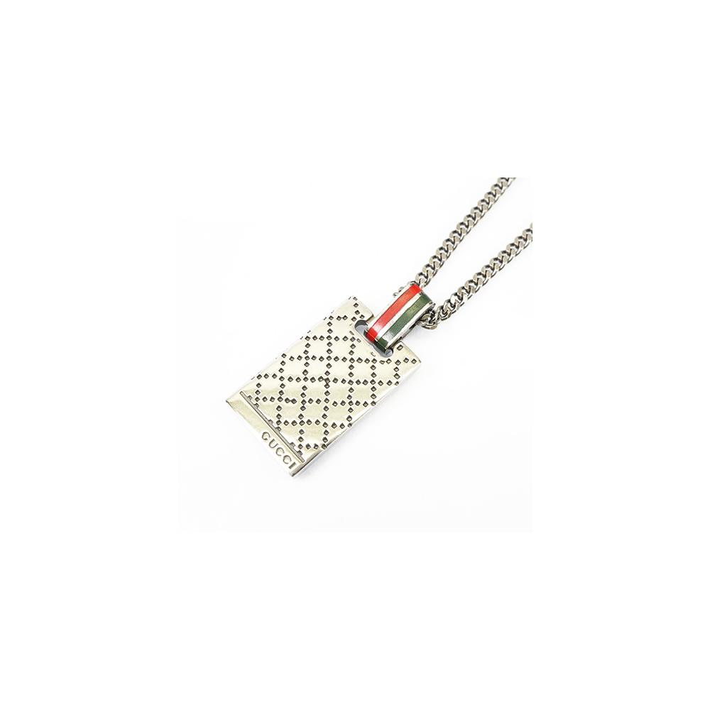 Auth Gucci Necklace Diamantissimo Signature  Silver 925
