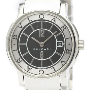 【BVLGARI】ブルガリ ソロテンポ ステンレススチール クォーツ レディース 時計 ST29S