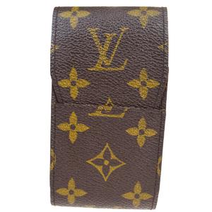 ルイ・ヴィトン(Louis Vuitton) モノグラム タバコケース ブラウン エテュイシガレット M63024