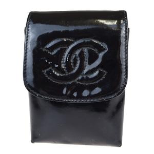 シャネル(Chanel) タバコケース ブラック パテントレザー
