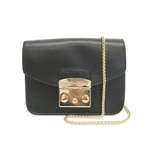 Furla Metropolis 820676 Women's  Shoulder Bag Black