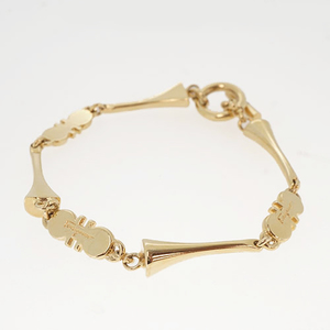 Salvatore Ferragamo Bracelet GP Plated Gold Color Made in Italy