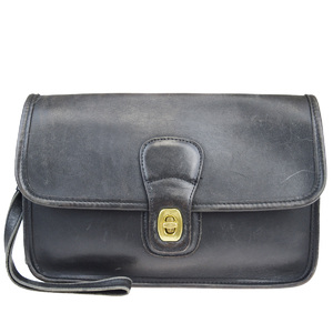 Coach 9832 Leather Clutch Bag Black