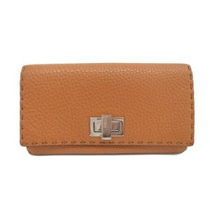 Fendi Selleria 8M0308 Women's Long Wallet (tri-fold) Brown