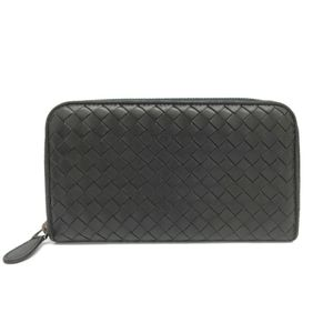 Bottega Veneta Intrecciato 114076 Long Wallet (bi-fold) Black