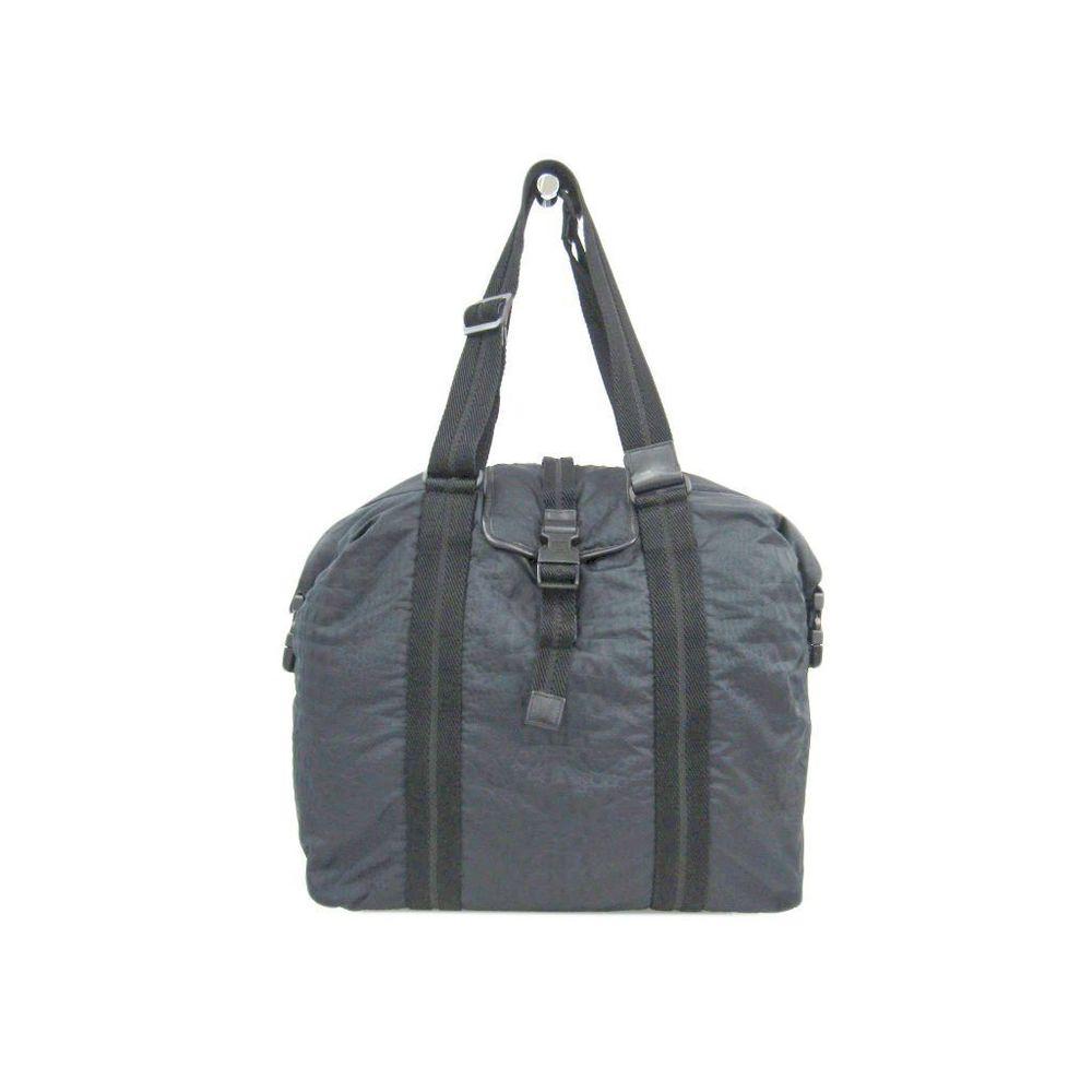 Chanel Sport Women's Canvas Nylon Shoulder Bag Black