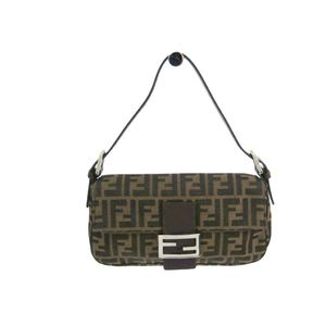 Fendi Baguette Baguette 26424 Women's Canvas Shoulder Bag Brown