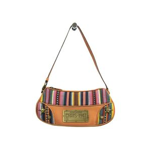 Christian Dior Women's Canvas Leather Shoulder Bag Brown,Multi-color