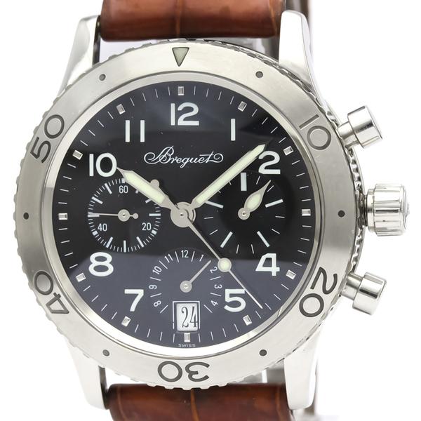 BREGUET Transatlantique Type XX Steel Automatic Watch 3820