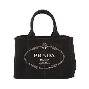 プラダ 2wayバッグ カナパ キャンバス ブラック ゴールド金具
