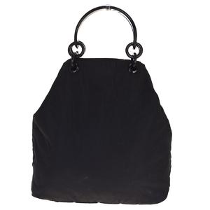 プラダ(Prada) ナイロン,プラスチック ハンドバッグ ブラック