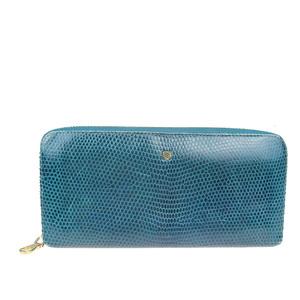 ロエベ(Loewe) エンボスド 長財布(二つ折り) ブルー