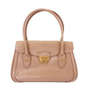 Auth Salvatore Ferragamo Gancini Women's Leather Handbag,Shoulder Bag