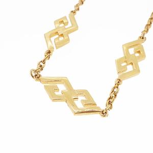 ジバンシィ ネックレス Gマーク ロゴモチーフ GPメッキ ゴールドカラー チェーンネックレス