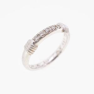 Christian Dior Ring Platinum 950 Diamond 5P Diamond Ring