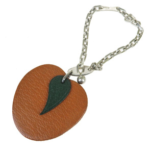 Hermes Leather Handbag Charm Orange fruits
