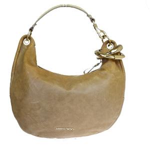 Jimmy Choo Leather Shoulder Bag Brown