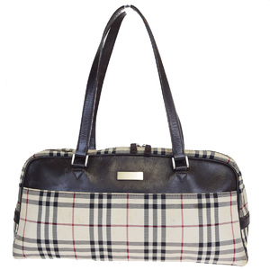 Burberry Nova Check Nylon,Leather Shoulder Bag Beige
