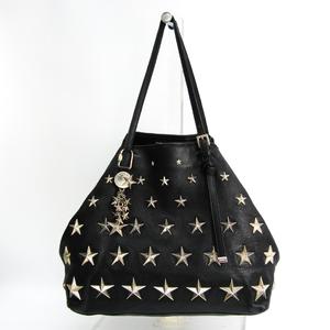 Jimmy Choo Sasha Women's Leather Studded Tote Bag Black
