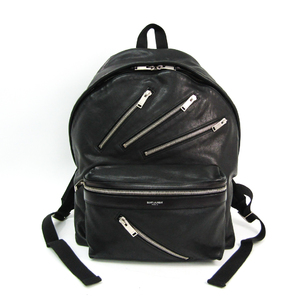 Saint Laurent Unisex Leather Backpack Black