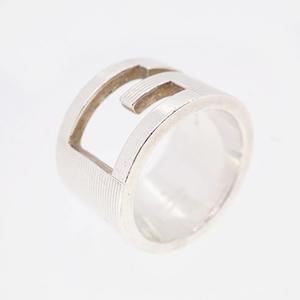 Auth Gucci Ring G Mark Logo Motif Silver 925