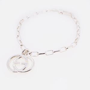 Auth Gucci bracelet GG mark logo motif silver 925 chain bracelet