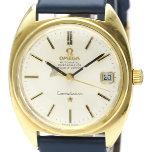 Omega Constellation Automatic Gold Plated Men's Dress Watch 168.017