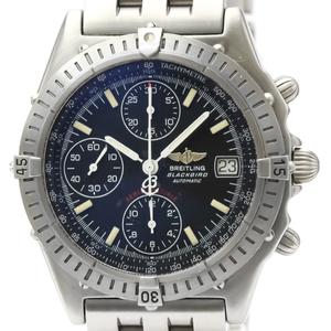 【BREITLING】ブライトリング クロノマット ブラックバード ステンレススチール 自動巻き メンズ 時計 A13350