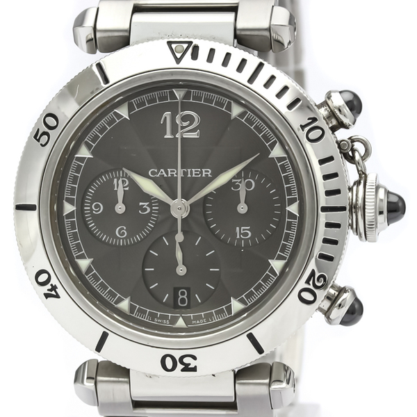 Cartier Pasha 38 Automatic Stainless Steel Men's Sports Watch W3107355