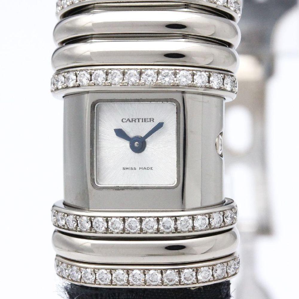 CARTIER Declaration Diamond White Gold Titanium Watch WT000450